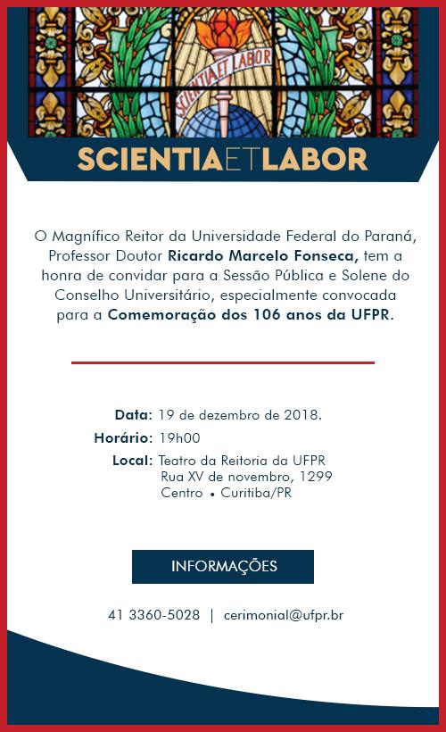 Comemoração dos 106 anos da UFPR